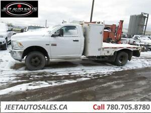 2012 Ram 3500 ST with Fassi M20A Boom crane with 11 Ft deck