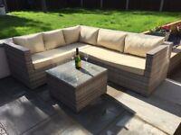 Rattan Garden Sofa, L Shape Corner, Rattan Garden furniture