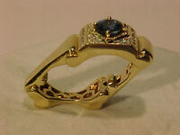 #2825-VERY UNUSUAL! 14K -COLLAPSING SHANK RING-Size 8 1/4