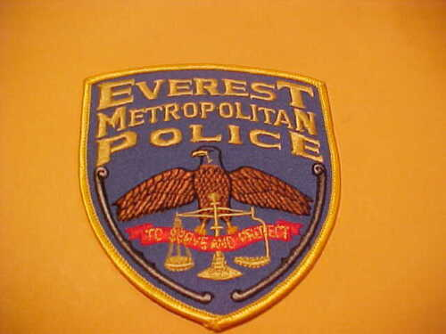 EVEREST WISCONSIN POLICE PATCH SHOULDER SIZE NEW
