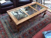 Hardwood Glass top Coffee Table