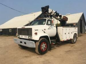 1989 GMC Topkick 7000 Post Hole Auger Truck