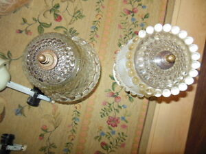 Very eye catching, old, glass ceiling lights London Ontario image 2