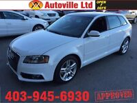 2012 AUDI A3 2.0T S-LINE TFSI AWD QUATTRO PANOROOF LOW KM $201BW