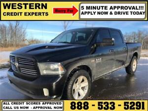2014 Ram 1500 Sport 4x4 LOADED~Leather~Sunroof~Nav. $253 B/W