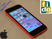 iPhone 5C ☼ Carrier: FIDO ONLY ☼ HOT PINK Great Condition*[FIRM]