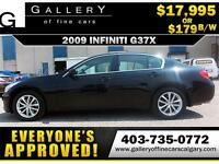 2009 Infiniti G37x AWD $219 bi-weekly APPLY TODAY DRIVE TODAY