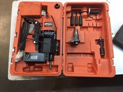 Jancy Jhm Usa 101 Slugger Portable Magnetic Drill Press W Extras