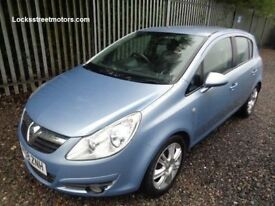 VAUXHALL CORSA 1.2 2008 5 DOOR DESIGN BLUE 61,000 MILES MOT TILL 18/04/18 SERVICE HISTORY ONE OWNER