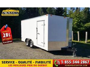 REMORQUE FERMÉE V-NOSE ENCLOSED TRAILER CARGO G... FERME , FERMÉ