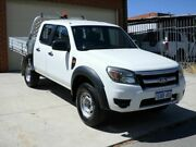 2010 Ford Ranger PK XL Crew Cab 4x2 Hi-Rider White 5 Speed Manual Utility Mount Lawley Stirling Area Preview