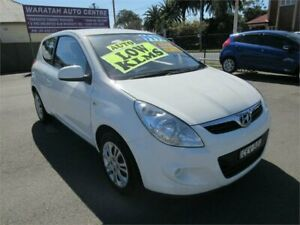 2012 Hyundai i20 PB MY12 Active White 4 Speed Automatic Hatchback Waratah Newcastle Area Preview