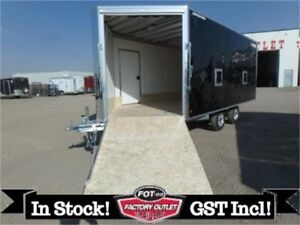 20' Deckover Lite Enclosed Snow Trailer by Alcom All-Aluminum