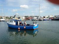 Clinker built 30ft fishing boat.