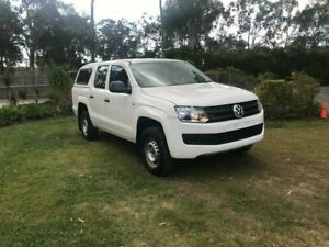 2014 Volkswagen Amarok 2H MY14 TDI420 4Motion Perm White 8 Speed Automatic Utility Capalaba Brisbane South East Preview