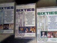 55 x 60s CHART HITS ON 3 RARE GOLDEN HITS OF THE SIXTIES PRERECORDED CASSETTE TAPES. MANY MORE TAPES