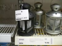 BRAND NEW IKEA Black lantern for tea light. Great for decoration inside and outside.
