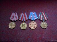 4 Soviet Army Medals