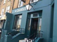 Pizza chef, Chandos Pub- Honor Oak