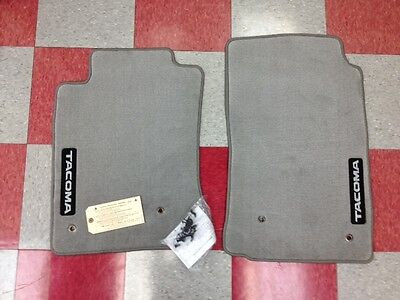 2005 2011 TACOMA ALL CABS FRONT CARPET FLOOR MATS LIGHT CHARCOAL GRAY OEM TOYOTA