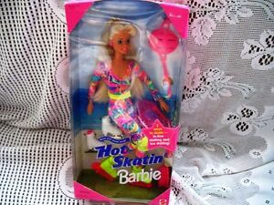 "11.5"" INLINE/SKATES HOT SKATIN' BARBIE DOLL 1994 IN ORIGINAL BOX"