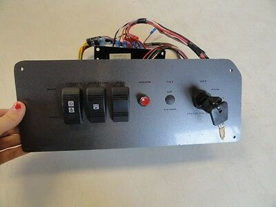 "TRACKER IGNITION & SWITCH PANEL 33922 WITH KEYS GRAY 12-1/2"" X 5"" MARINE BOAT"