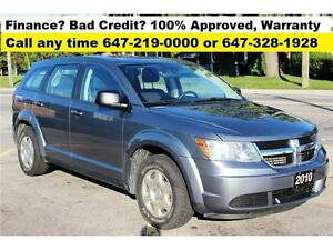 "2010 Dodge Journey SE Auto FINANCE 100% Approved ""NO ACCIDENT"""