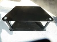 TV stand - black tempered glass