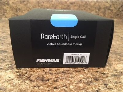 New Fishman Rare Earth Single Coil Acoustic Guitar Soundhole Pickup PRO-REP-101