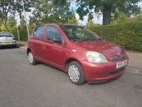 TOYOTA YARIS 1.0 2003 EXCELLENT CONDITION NEW 1 YEAR MOT STARTS AND DRIVES GREAT BARGAIN £695