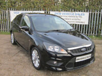 "FORD FOCUS 1.6 ZETEC S 115 PANTHER BLACK 70K FSH 9 X STAMPS / A/C / 17"" ALLOYS!!"