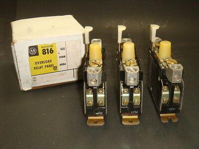 NEW ALLEN BRADLEY 816CM-COV4,OVERLOAD RELAY PANNEL, NEW IN BOX