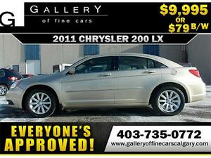 2011 Chrysler 200 LX $79 bi-weekly APPLY NOW DRIVE NOW