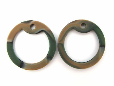 Rubber Silencer - 4 Woodland Camo Silicone Military Army Dog Tag Silencers Rubber Silencer