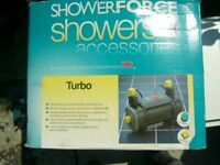 Showerforce power shower pump and fittings.