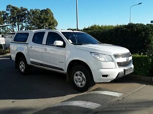 2014 Holden Colorado RG MY14 LX Crew Cab White 6 Speed Sports Automatic Utility Acacia Ridge Brisbane South West Preview