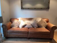 Harrods leather sofa for sale £350.00 (second hand)