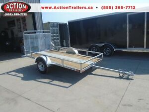GALVANIZED UTILITY TILT DECK/RAMP COMBO TRAILER - 5.5''X10' LONG