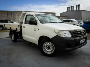 2015 Toyota Hilux TGN16R MY14 Workmate 4x2 White 4 Speed Automatic Cab Chassis Canning Vale Canning Area Preview