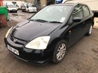 Cheap car of the day 2001 Honda Civic, starts and drives, does export, car located in Gravesend Kent