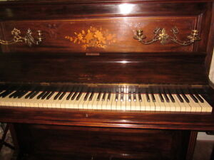 Antique John Spencer and Coy Upright Piano-Hastings Limited