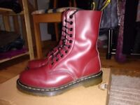 Dr Martens cherry red boots