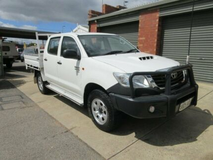 2012 Toyota Hilux KUN26R MY12 SR (4x4) White 5 Speed Manual Dual Cab Chassis Gilles Plains Port Adelaide Area Preview