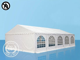 SALE Luxury Grand 04x10m Heavy Duty Fire Resistant Marquee PVC & Steel With GroundBar