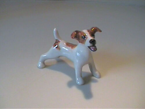 BLUE WITCH MINIATURE PORCELAIN JACK RUSSELL TERRIER DOG
