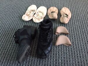 dance shoes both ballet and jazz