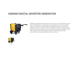 KIPOR IG6000H  DIGITAL INVERTER GENERATOR $2199 clearance last 1