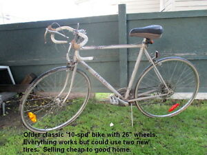 THREE  OLDER BIKES TO USE OR FOR PARTS