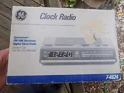 GE Digital Alarm Clock Radio AM/FM Model 7-4624 Sealed