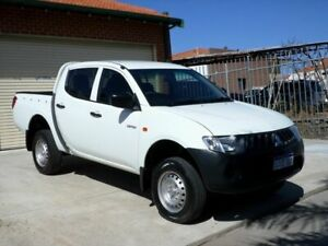 2007 Mitsubishi Triton ML MY07 GLS Double Cab White 5 Speed Manual Utility Mount Lawley Stirling Area Preview